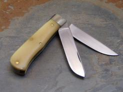 Almond Smooth Bone Handle Scout Knife, #735208