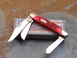 CASE 6347 DARK RED BONE STOCKMAN KNIFE