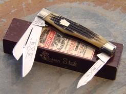 SCHATT & MORGAN 1993 WINTERBOTTOM BONE GUNSTOCK STOCKMAN KNIFE