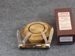 SCHATT & MORGAN MINI CONGRESS POCKET KNIFE, 2005, GENUINE STAG #034230